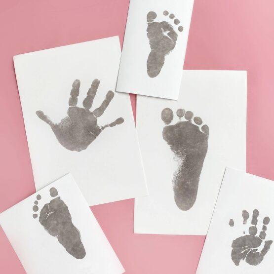 Blækfri aftrykssæt til baby hånd og fod