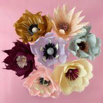 Crepe papir blomser buket